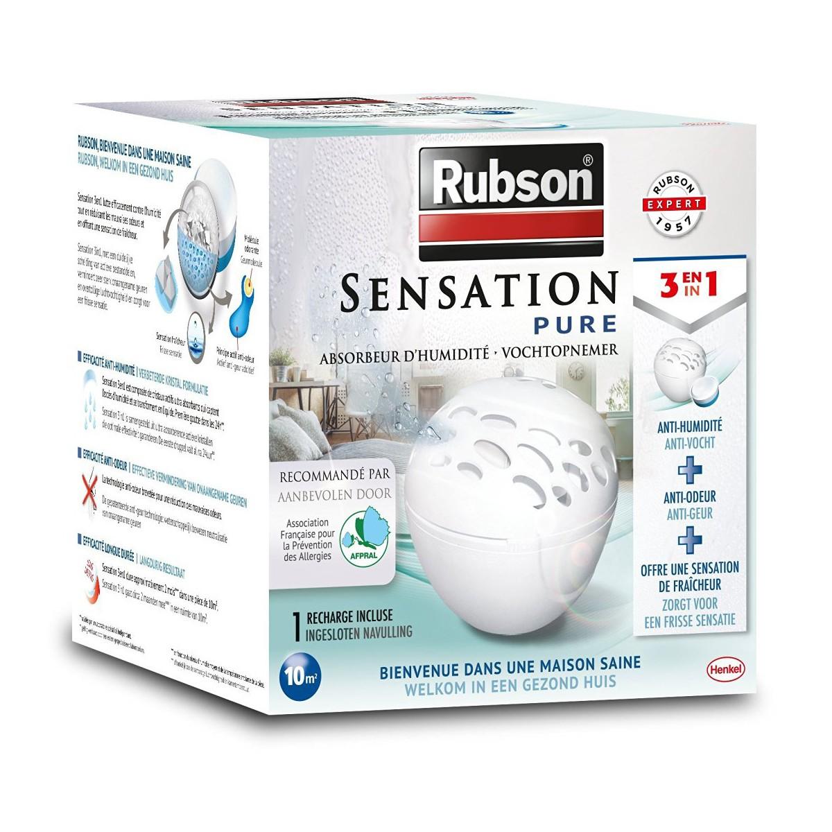 Absorbeur D Humidité Avis rubson absorbeur d'humidité sensation pure petit espace + 1 recharge