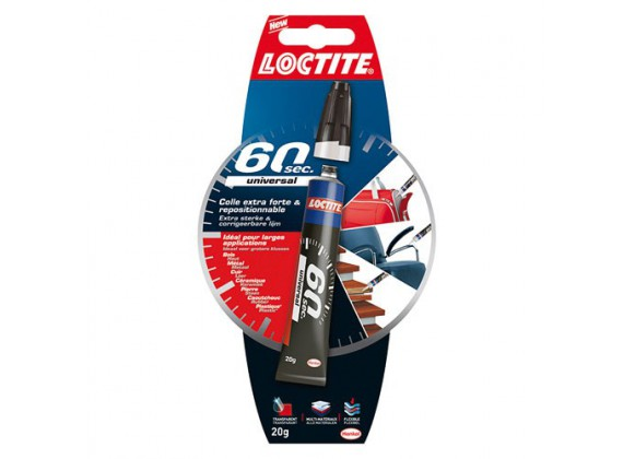 Colle extra-forte & repositionnable 60 sec. 20g