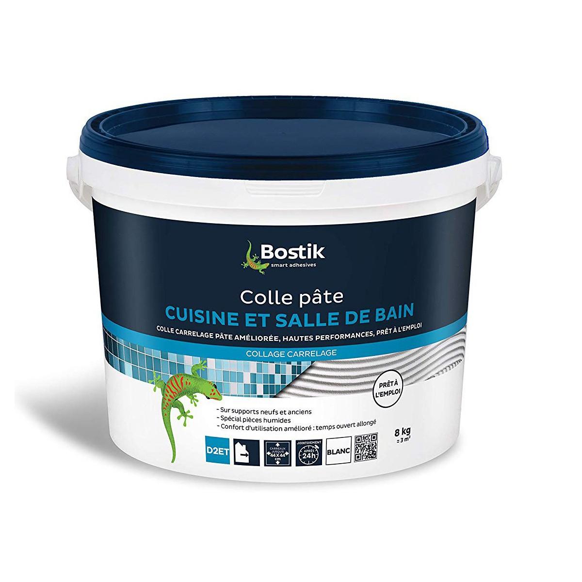 BOSTIK - Bostik Colle carrelage cuisine et salle de bain 8kg à 19,90