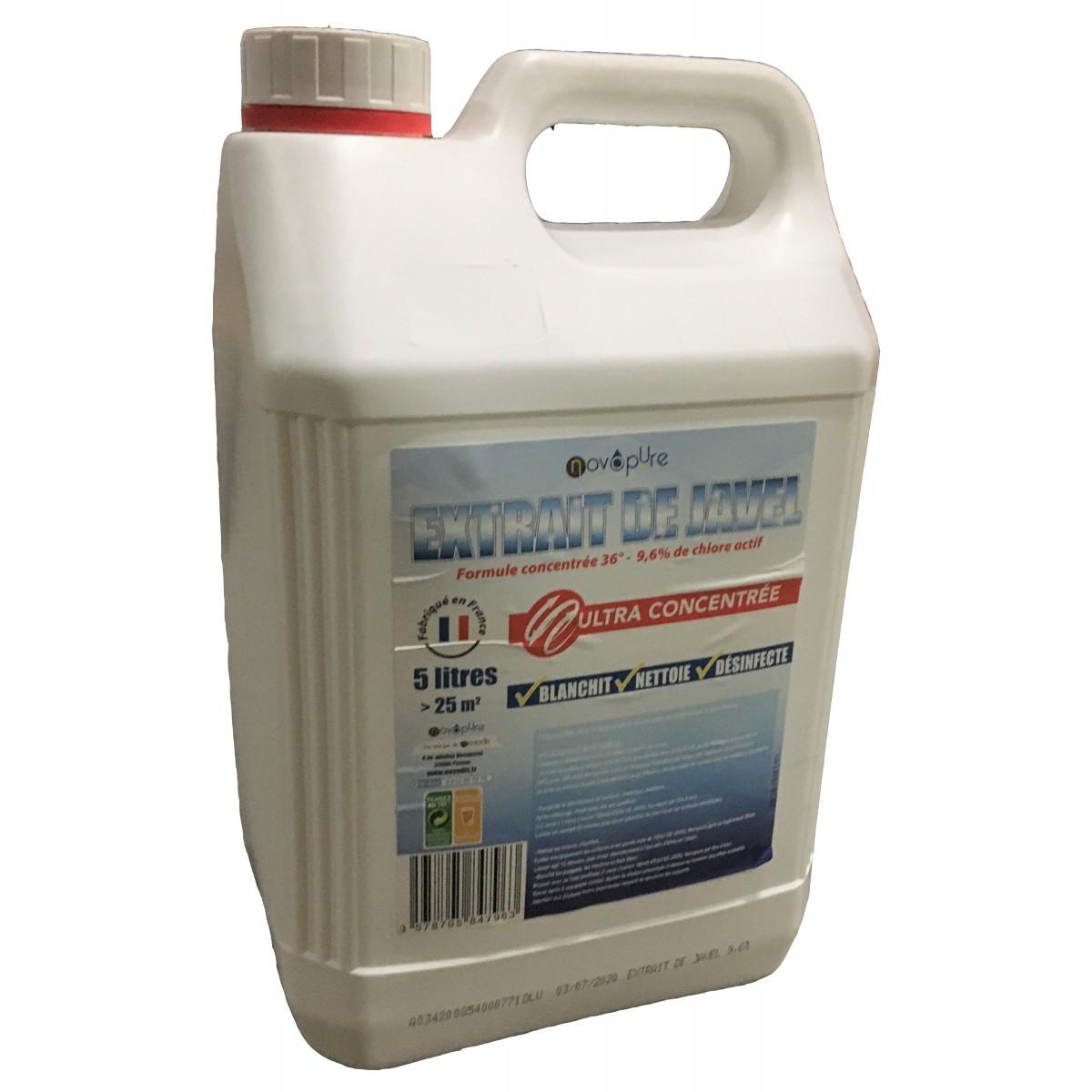 Eau De Javel Anti Mousse Terrasse extrait de javel 9,6% de chlore actif 5l