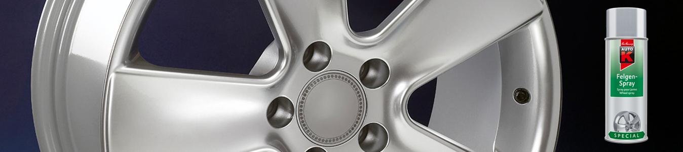 bombe de peinture jante aluminium gris