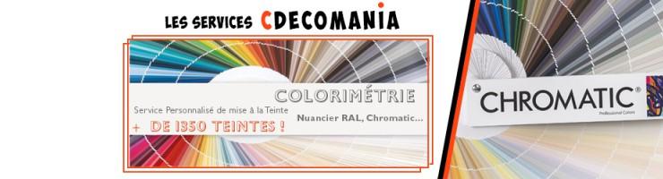 Processus de Mise à la Teinte Peinture - Service Colorimétrie Cdécomania