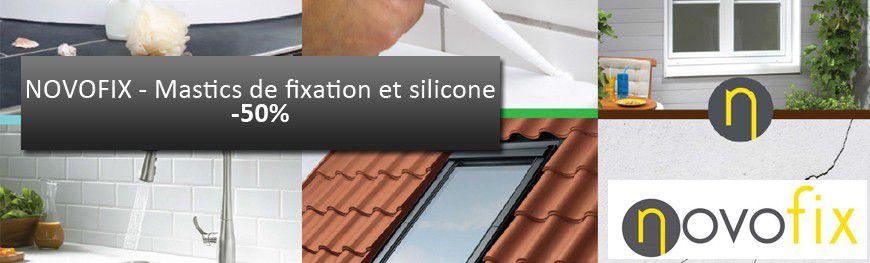 Novofix - Mastics de fixation et silicone -50%