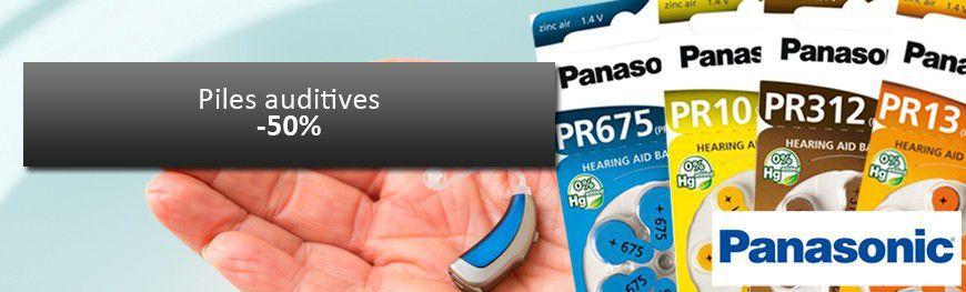 Profite de -50% sur les piles auditives Panasonic